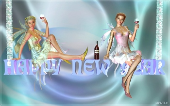 download fairy toast wallpaper animated screensaver of fairies toasting in the new year